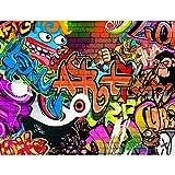 Fototapeten Graffiti Streetart 352 x 250 cm Vlies Wand Tapete Wohnzimmer Schlafzimmer Büro Flur Dekoration Wandbilder XXL Moderne Wanddeko - 100% MADE IN GERMANY - Runa Tapeten 9068011a