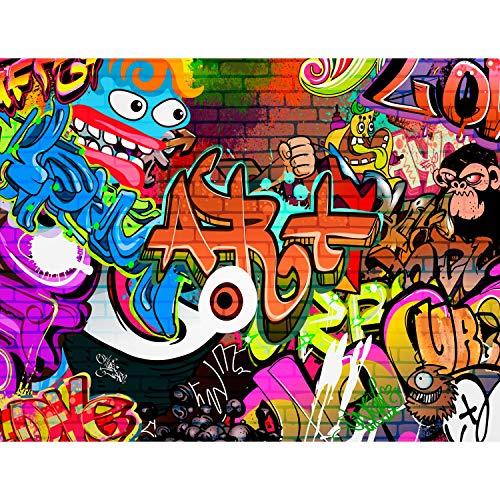 Fototapete Graffiti Streetart 396 x 280 cm Vlies Wand Tapete Wohnzimmer Schlafzimmer Büro Flur Dekoration Wandbilder XXL Moderne Wanddeko - 100% MADE IN GERMANY - Runa Tapeten 9068012a