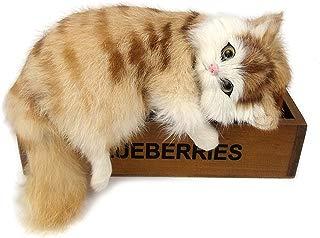 GlobalDeal Creative Simulation Cat Cute Slipper Kitten Doll Toys Animal Kids Gift Car Decor ( Yellow)