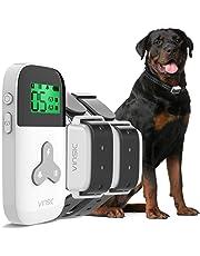 2匹犬用の無駄吠え防止首輪 犬訓練しつけ首輪 むだぼえ防止首輪 犬吠え防止ワンブル、3モード[電気ショック/振動/ビープ音]、充電式、防水、300m リモコン距離、1年品質保証