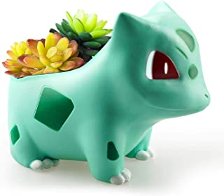 4.6'' Bulbasaur Mini Planter Pot - Great for Plants, Succulents, Echeveria, Jade Plant |Medium Size 11.9cm Tall Flowerpot