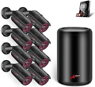 [2020 Más Reciente] ANRAN 5MP Kit 8 Cámaras de Seguridad PoE CCTV Kit Vigilancia NVR 8CH 8 Cámaras de Vigilancia Exterior Sistema Videovigilancia CCTV PoE 3TB HDD Acceso Remoto Alarma de Movimiento