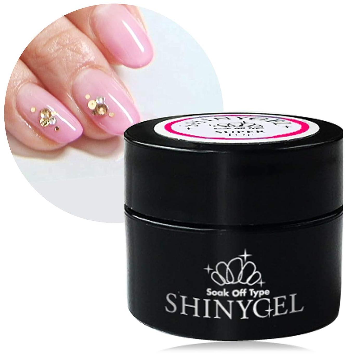 達成考える一般化する[UV/LED対応○] SHINYGEL シャイニージェル スーパートップ/5g <セミハードタイプ>爪にやさしく 極上のツヤとうっとりする透明感 100%純国産原料使用