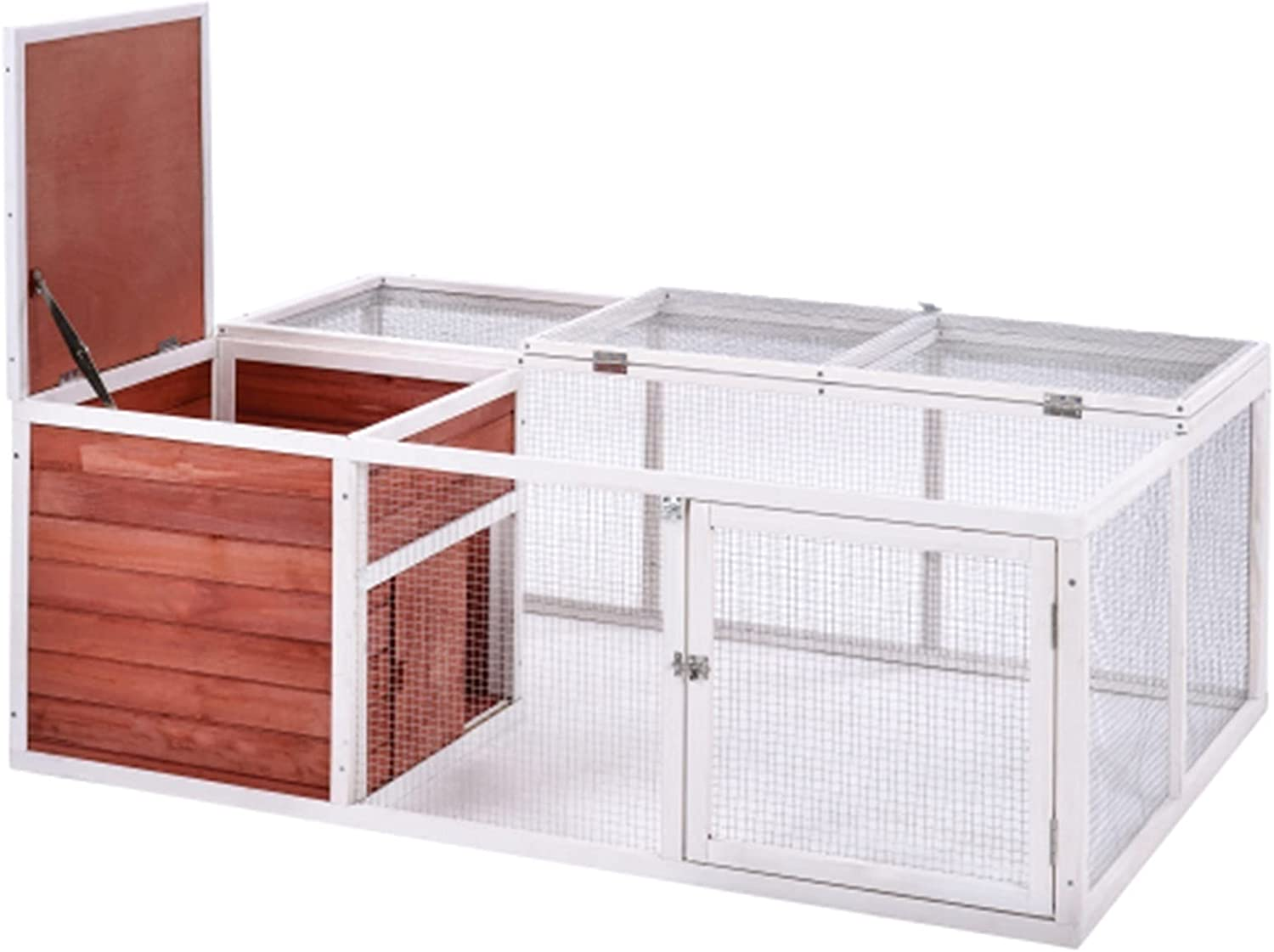 JITUO 61.8 Inches Rabbit Playpen Chicken Superlatite Pet An House Large discharge sale Coop Small
