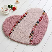 Heart Shape Carpet Mat Living Dining Bedroom Area Rugs Slip Resistant Door Floor Mat Washable Bathroom Rug Carpet Home Tex...