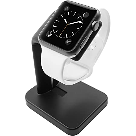 Macally Apple Watch Charger Stand - The Perfect Nightstand Charging Dock Station - Compatible with Smartwatch Series 6/5 / 4/3 / 2/1, (44mm, 42mm, 40mm, 38mm) - Black