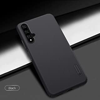 Nillkin HW-H20-NL-SF-B Super Frosted Hard Phone Case With Stand For Huawei Nova 5T/Honor 20/Honor 20s - Black