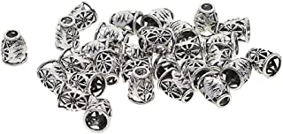 MagiDeal 30 Pieces Tibetan Silver Filigree Evil Eye Caps Focal Tassel Jewelry DIY Alloy Beads Caps,End Caps,Cord Caps,Tass...