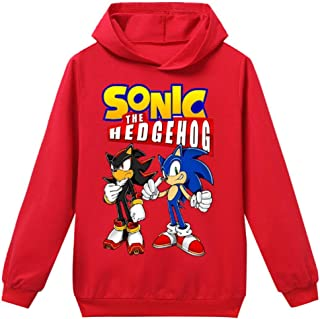 Indepence Life Boys and Girls Sonic The Hedgehog Pullover Hooded Sweatshirt