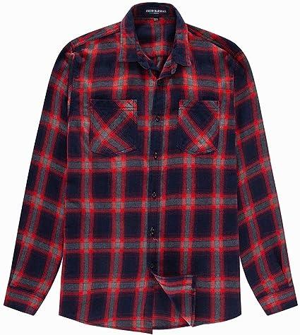 LIUXING-TUMI - Camisa de Mezclilla de Manga Larga de algodón ...