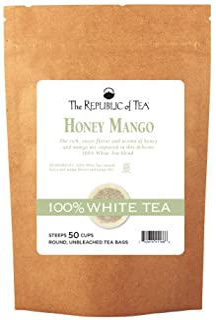 The Republic of Tea Honey Mango 100% White Tea, 50 Tea Bag Refill