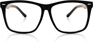 5zero1 Fake Glasses Big Frame Clear For Women Men Fashion Classic Retro Costumes Party Halloween