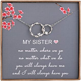 Sister Gifts from Sister - Sterling Silver Interlocking...