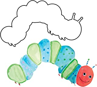 Hygloss Products Big White Paper Cut-Outs - Caterpillar Shape - Great for Arts & Crafts - Many Creative Uses - 16 Inches Wide - 25 Pcs