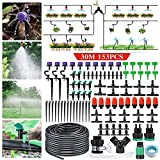 king do way Irrigation System 95Ft DIY Micro Drip Irrigation Kit with Adjustable Nozzle,Automatic Watering Kits,Garden Micro Irrigation Drip System,Plant Watering System for Patio,Greenhouse,Lawn