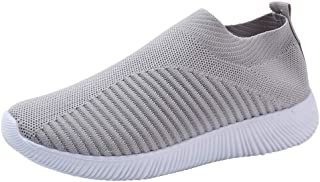 Creazrise Women's Athletic Walking Shoes Comfortable Slip-On Running Sneakers