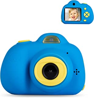 Deeteck Kids Video Camera for Girls Boys, 2 Inch Mini Digital Camera,Shockproof Children Camcorders, Toys for 5-9 Year Old Boys Birthday Gifts with 16GB SD Card(Blue)