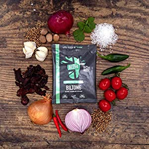BEEFit Snacks Biltong Flavour Fest - One Bag of Each Flavour - Traditional, Peri Peri, Chilli, Garlic, Teriyaki, BBQ - Healthy - Low Sugar - Carb Killer Snack - High Protein - Not Beef Jerky (6x30g)