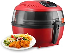 KUPPET Air Fryer-Hot/Deep Fryer with Basket-Rapid Air Technology For Less or No Oil-Timer Temperature Control (7.4QT Digital, Red)