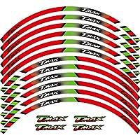 直径17インチのリムに適した2020スタイリッシュな防水リムステッカー、美しいリム装飾紙 APRILIA RSV4 に適用する (緑)