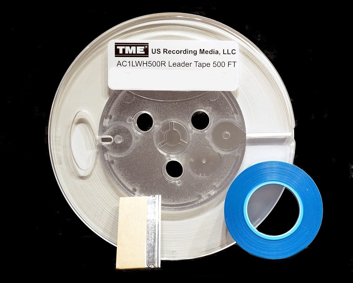 Leader Tape Open Reel Industry No. 1 Audio unisex Opaque White 4 500 Ft x with 1 Inch