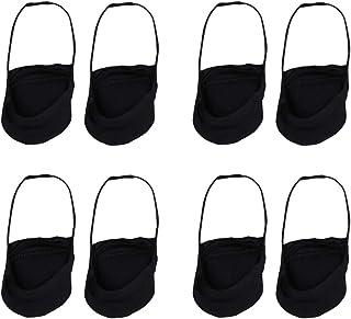 4 Pares de Calcetines Delanteros Calcetines Invisibles Antideslizantes Calcetines de Tacón Alto para Damas Bailando Al Aire Libre (Negro)