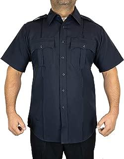First Class 100% Polyester Short-Sleeve Men's Uniform Shirt Navy Blue