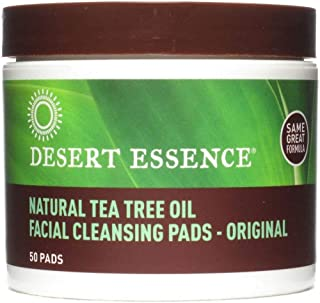 Tea Tree Oil Facial Cleansing Pads 50 Count