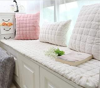 TENCMG Plush Window Seat Cushions Indoor,Non-Slip Bay Window Pad,Bay Window Cushion,Solid Color Thickened Balconies Mat,Machine Washable-b 70x180cm(28x71inch)