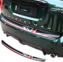 Charminghorse Rubber Car Rear Bumper Protection Trim Rear Guard Plate Protector Union Jack Flag Sticker for BMW Mini Cooper R56 Clubman R55 F55 F56 Countryman R60 F60 (for Countryman F60)