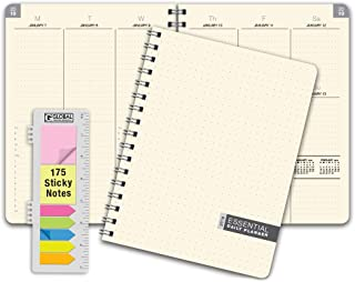 """Essential 7""""x9"""" Monthly & Weekly 2019 Planner - 14 Months (November 2018 Through December 2019) - Professional, Simple, Easy-to-Use Design. Frosted Vinyl Covers for Extra Protection"""