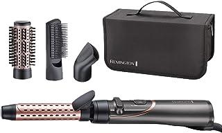 Remington Curl and Straight Confidence - Estilizador de aire caliente giratorio versátil, rizador suave, cepillo de pelo de paletas - AS8606
