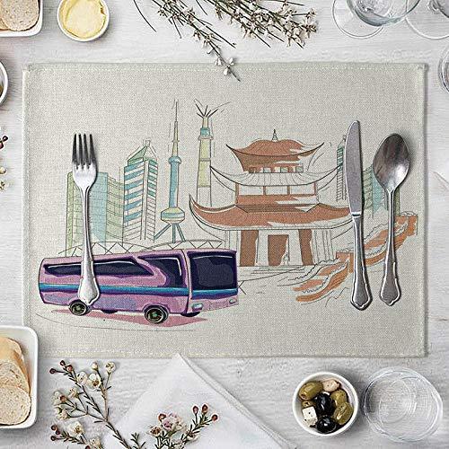 Platzsets Tischset Cartoon Bautisch Matte Kreative Tisch Serviette Für Hochzeit Küche Dekor Kreative Auto Tischset Esszubehör 3