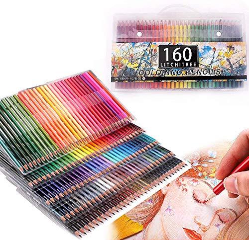 Set di 160 matite colorate, matite colorate a base di olio per adulti, libri da colorare, artisti, schizzi e bambini
