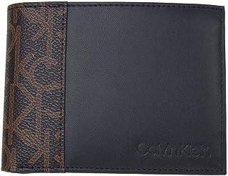 (カルバンクライン) Calvin Klein ふたつ折り財布 K50K504413 ネイビーxブラウンxレッド 羊革 シープレザーxPVC メンズ 二つ折り [並行輸入品] [並行輸入品]