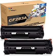 7 Magic CF283A 83A cartuchos de tóner compatibles para HP 83A CF283A uso para HP Laserjet Pro M125a M125nw M126a M126nw M127fn M127fw M128fn M128fw M201dw M201n M202dw M202n M225dn M225dw (2 Negro)