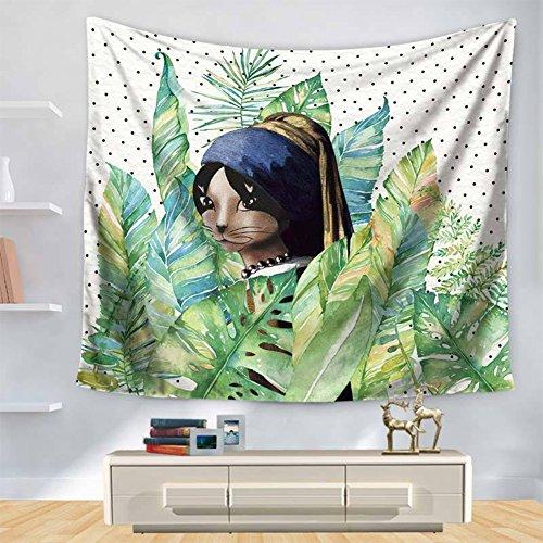 LLHBE Tapestry Cartoon hert afbeelding afdrukken muur opknoping Home Decoraties Boheemse Tapestry Yoga Mat Beach handdoek 200 X 150 Cm
