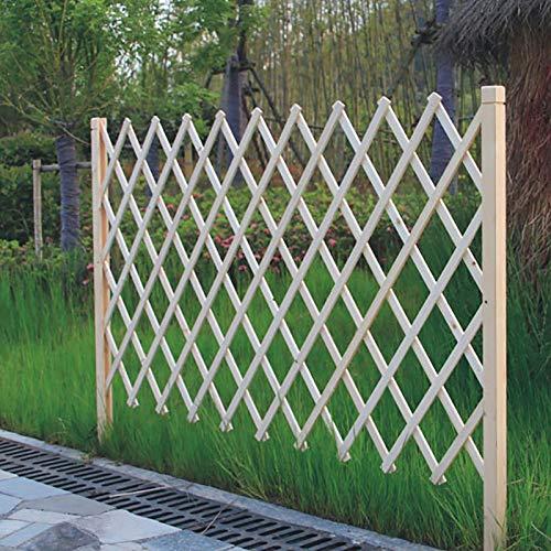 Picket Zaun Panels-Holzfarbe, erweiterbarer Zaun, Upgrade Holzgarten Gitter for Pflanze Klettern Gittergarten Gartenpartition Dekorative (Size : H90cm)