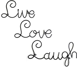 Live Love Laugh Set 3 Wall Mount Metal Wall Word Sculpture, Wall Decor By Super Z Outlet