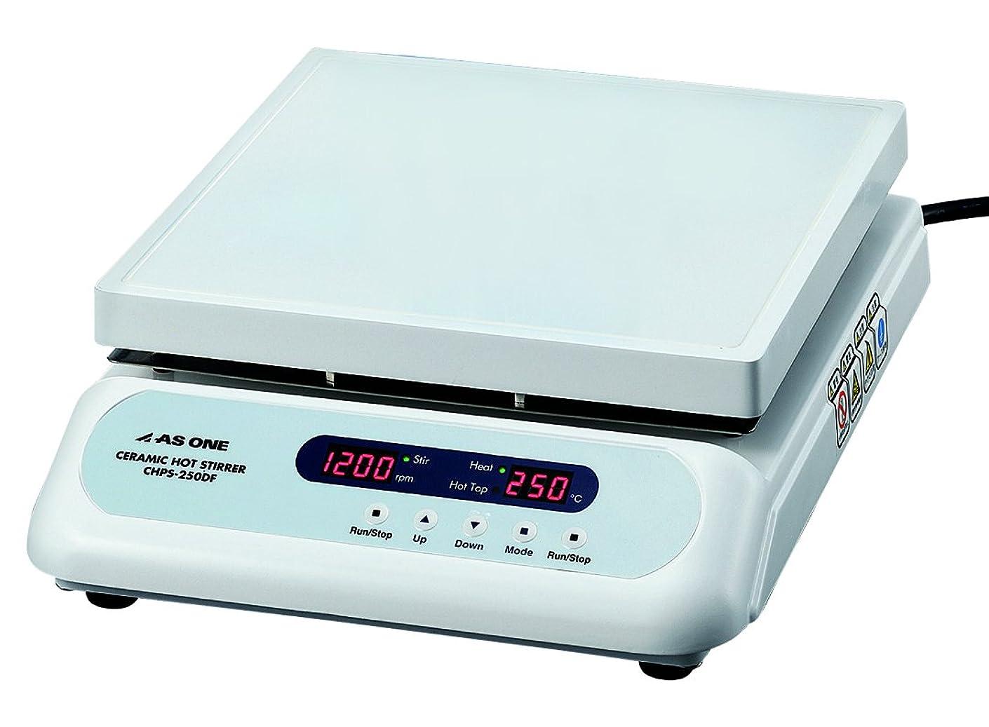 調和五月ましいアズワン セラミックホットスターラー (デジタルタイプ) 550℃ 251×254mm /2-8081-42