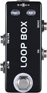 ammoon Mini Guitarra Pedal de Efecto Loop Box Caja de Bucle Selección de Canales de Conmutación True Bypass Cuerpo de Aleación de Zinc-aluminio