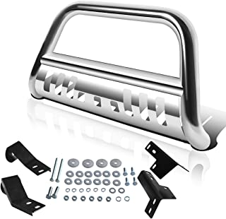 """Best AUTOSAVER88 Bull Bar Compatible for 05-15 Toyota Tacoma 3"""" Tube Brush Push Grille Guard Front Bumper (Silver) Review"""