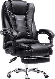WYKDL الرئيسية مكتب الرئاسة، الجلود مكتب مكتب التنفيذي كرسي مكتب مريح 400 رطلا مع وسادة مقعد سميكة وسدوي قابل للسحب