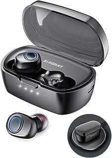 ELEGIANT Auriculares Bluetooth 5.0, TWS Mini Cascos Inalámbricos con Micrófono Estéreo Soporta Carga Inalámbrica Rápida +T...