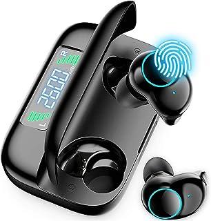 PANFREY Auriculares Inalámbricos, Auriculares Deportivos Bluetooth 5.0 Estéreo TWS Auriculares Sobre la Oreja a Prueba de Sudor con Estuche de Carga 156Hrs de Tiempo de Juego Auriculares Inalámbricos para Correr/Trabajar