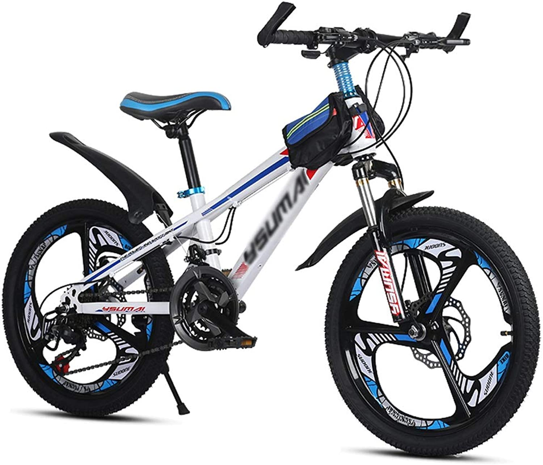 Kinderfahrrder Fahrrder Kinder-Mountainbike Outdoor-Kinder-Reiserad Outdoor-Mountainbike Geeignet Sommersportrad Schülerfahrrad (Geschwindigkeit Einstellbar) (Farbe   Wei, Größe   20inch)