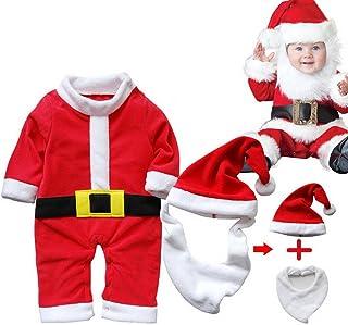 6b8ecc4c9a ARAUS Costume della Santa del Partito Pagliaccetti Cosplay Prima Infanzia Bimbo  Vestito Babbo Natale 3 Pezzi