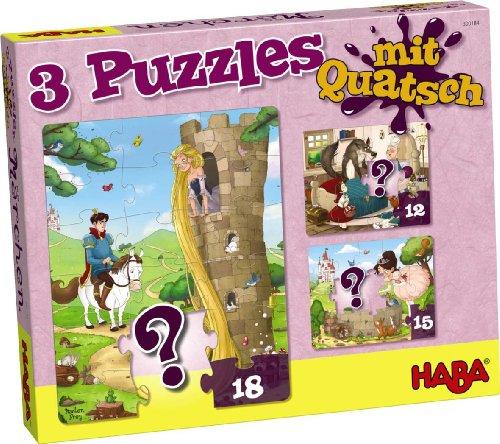 HABA 300184 - 3 Puzzles mit Quatsch - Märchen