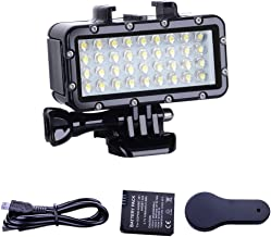 Suptig Diving Light High Power Dimmable Waterproof LED Video Light Fill Night Light Diving Underwater Light Waterproof 147ft(45m) for Gopro Hero 8 Hero 7 Hero 6/5/5S/4/4S/3+/2/SJCAM/YI Action Cameras