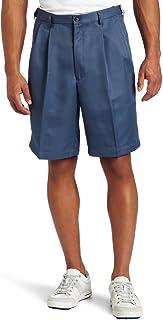 Haggar Men's Big & Tall Cool 18 Gabardine Pleat Front Short